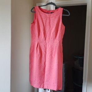 Ann Taylor Dress Coral Petite 10 Ladies